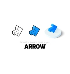 Arrow icon in different style vector image