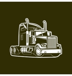 Truck black and white vector