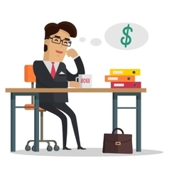 Man Thinking About Money vector image