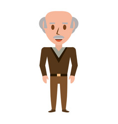 retro old man cartoon vector image