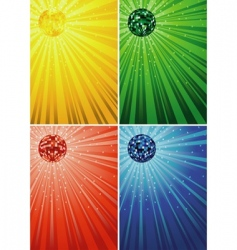 Disco ball backgrounds vector