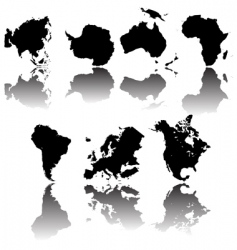 Continents maps vector