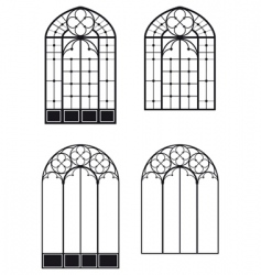 windows and door windows vector image
