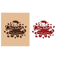 Best coffee retro banner vector