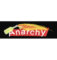 Anarchy grunge scratched logo on black vector