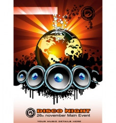 music event vector image