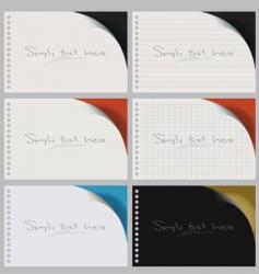 blank notebooks vector image