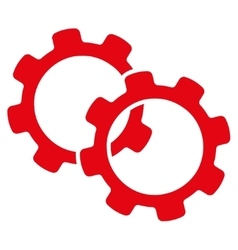 Gears icon from business bicolor set vector