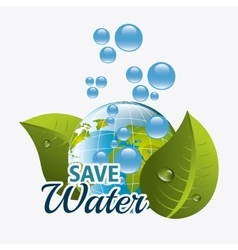 Save water ecology vector