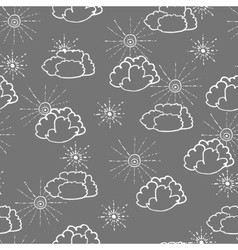 Seamless pattern with hand drawn doodle elements vector