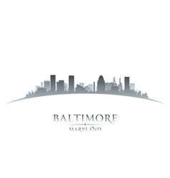 Baltimore Maryland city skyline silhouette vector image
