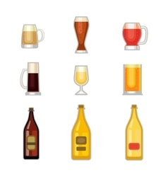 Beer glass set vector image