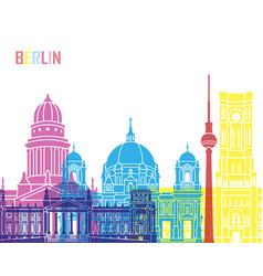 berlin v2 skyline pop vector image vector image