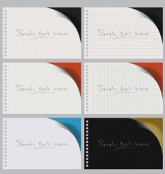 blank notebooks vector image vector image