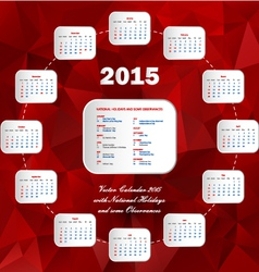 Calendar usa holidays-circle vector