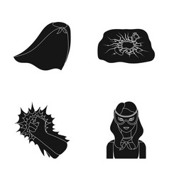Cloak red clothes and other web icon in black vector