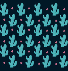 Colorful cactus seamless pattern vector