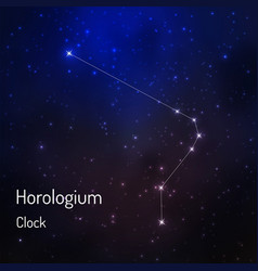 constellation in the night starry sky vector image vector image