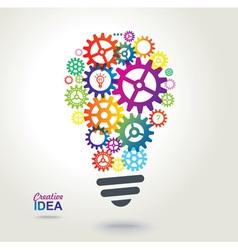 Creative conceptual background Idea vector image vector image