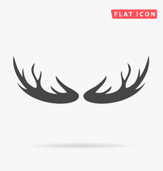 deer antlers horns icon on white background vector image