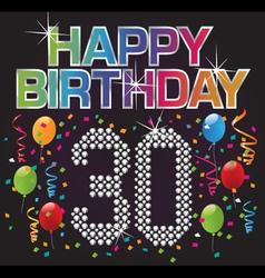happy 30th birthday vector image