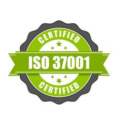 Iso 37001 standard certificate badge - vector