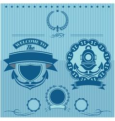 Label for underwater work vector