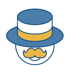 Man wearing a hat icon vector