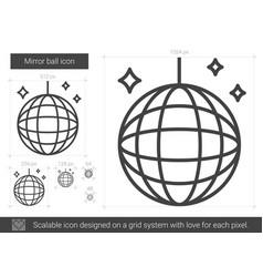 Mirror ball line icon vector