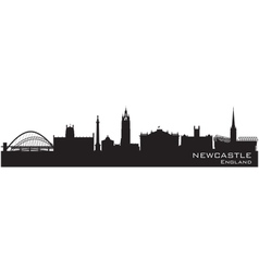 Newcastle England skyline Detailed silhouette vector image