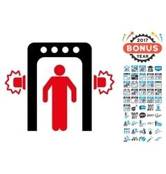 Passenger screening icon with 2017 year bonus vector