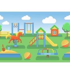 Playground horizontal seamless vector image vector image