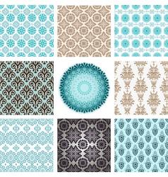 retro ornaments set vector image vector image