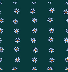 seamless pattern of tender blue chamomiles vector image vector image
