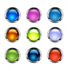 shiny colorful buttons vector image vector image
