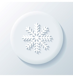 Snowflake 3D Paper Icon vector image vector image