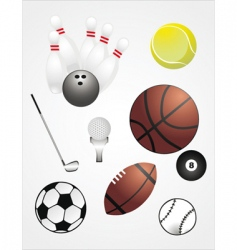 sport ball set vector image