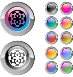 Target multicolor round button vector image vector image