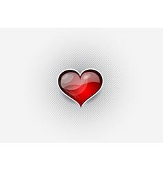heart grey background vector image