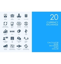 Set of currency exchange icons vector