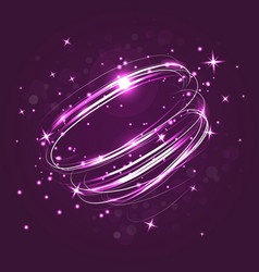 Neon crossed circles light lines effect vector