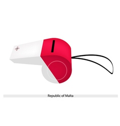 A whistle of the republic of malta vector