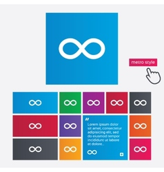 Repeat icon loop symbol infinity sign vector