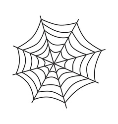 Spider web art vector