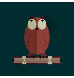 Owl on a book vector