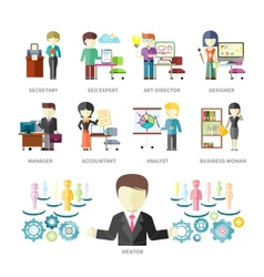 Business peoples professions vector