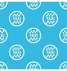 Taxi sign blue pattern vector