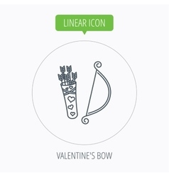 Amour arrows with bow icon cupid love symbol vector