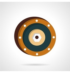 Wheel disk flat icon vector