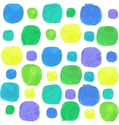 Watercolor seamless pattern with blue green vector